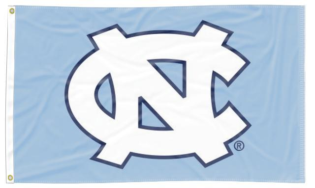 North Carolina - UNC Blue 3x5 Applique Flag