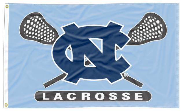North Carolina - Tar Heels Lacrosse Blue 3x5 Flag