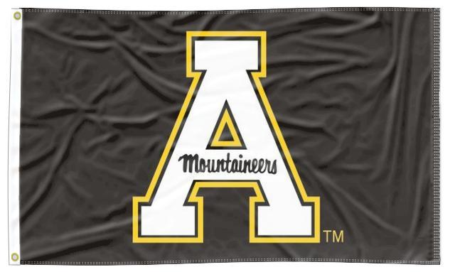 Appalachian State - Mountaineers Black 3x5 Flag