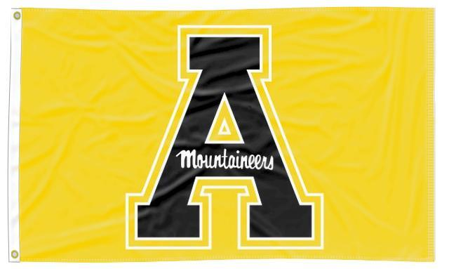Appalachian State - Black A Gold 3x5 Flag