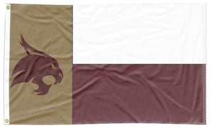 Texas State-San Marcos - Flag of Texas Style 3x5 Flag