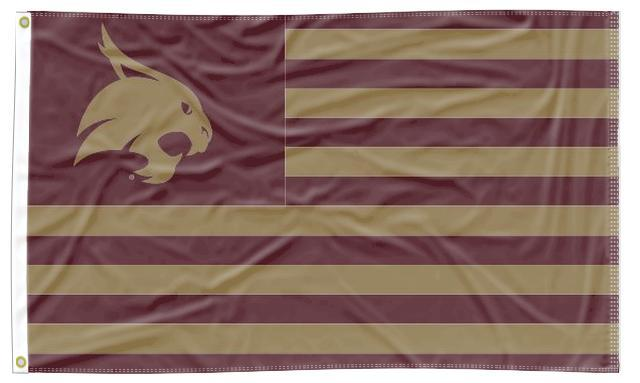 Texas State-San Marcos - Bobcat National 3x5 Flag