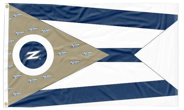 Akron - Flag of Ohio Style 3x5 Flag