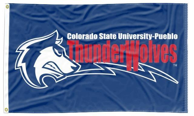 Colorado State University-Pueblo - Thunderwolves Blue 3x5 Flag