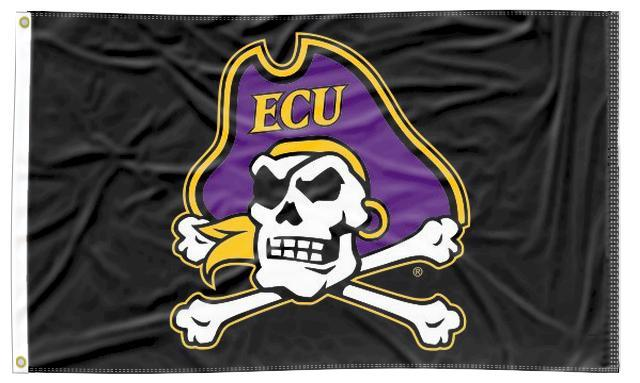 East Carolina - Pirate Crossbones Black 3x5 Flag