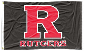 Rutgers - Scarlet Knights Black 3x5 Flag