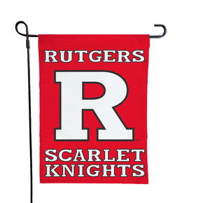 Rutgers - Scarlet Knights Red Garden Flag
