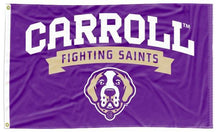 Load image into Gallery viewer, Carroll College - Fighting Saints Purple 3x5 Flag