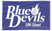 Load image into Gallery viewer, Wiscounsin-Stout - Blue Devils 3x5 Flag
