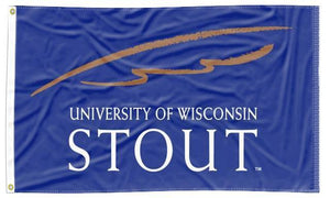 Wisconsin-Stout- University Blue 3x5 Flag