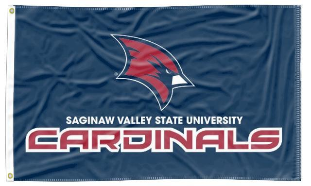 Saginaw Valley State - Cardinals Blue 3x5 Flag