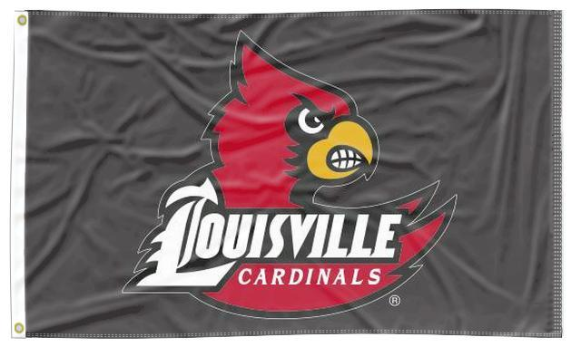 Louisville - Cardinals Black 3x5 Flag