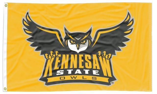Kennesaw State - Owls Gold 3x5 Flag
