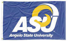 Load image into Gallery viewer, Angelo State University - ASU Rams Blue 3x5 Flag
