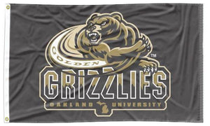 Oakland University - Grizzlies Black 3x5 Flag