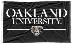 Oakland University - Black 3x5 Flag