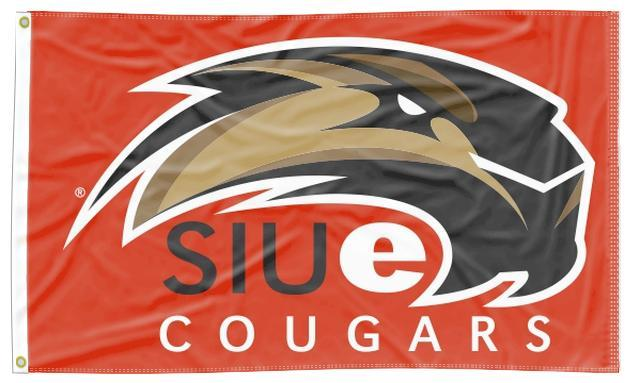 Southern Illinois Edwardsville - SIUe Cougars Red 3x5 Flag