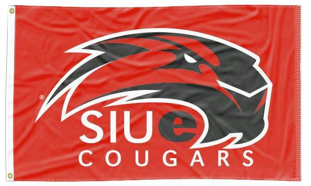 Southern Illinois Edwardsville - SIUe Red Cougar 3x5 Flag
