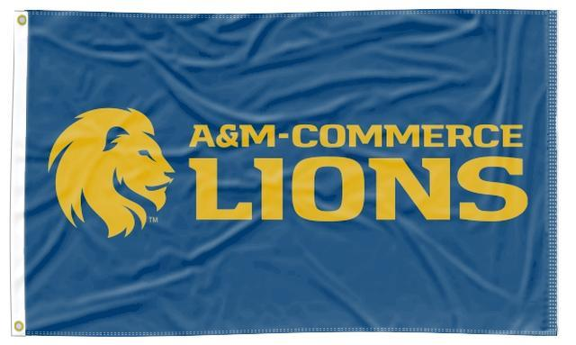 Texas A&M-Commerce - Lions Blue 3x5 Flag