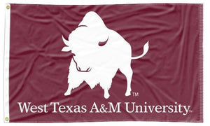 West Texas A&M - Bisons Maroon 3x5 Flag