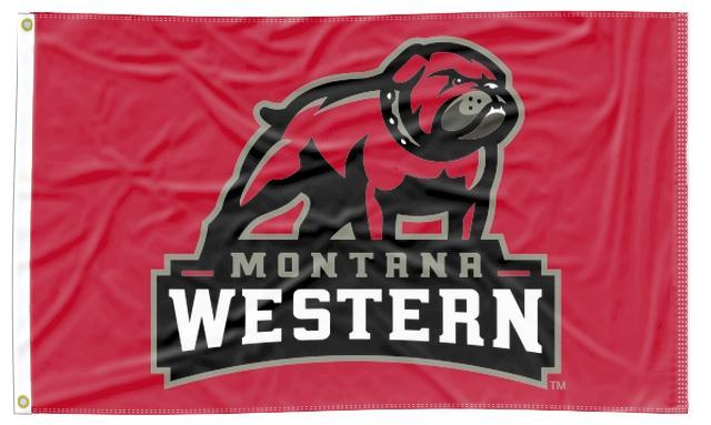 Montana Western - Bulldogs Red 3x5 Flag