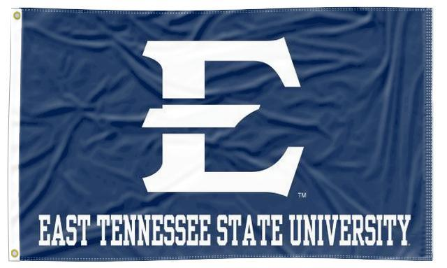 East Tennessee State - White Letters Blue 3x5 Flag