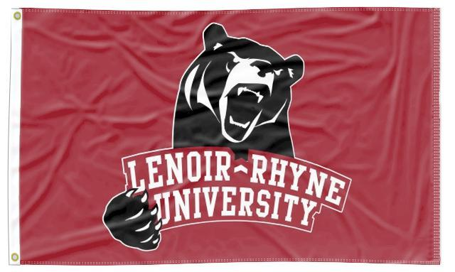 Lenoir-Rhyne - Bears Red 3x5 Flag