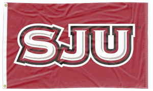 Saint Joseph's University - SJU Hawks Red 3x5 Flag