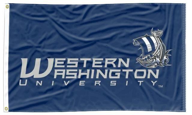 Western Washington University - Vikings Blue 3x5 Flag