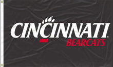 Load image into Gallery viewer, Cincinnati - University Letters Black 3x5 Flag