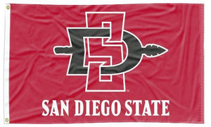 San Diego State - SD Aztecs Red 3x5 Flag