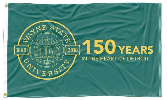 Wayne State - 150 Years in The Heart of Detroit 3x5 Flag