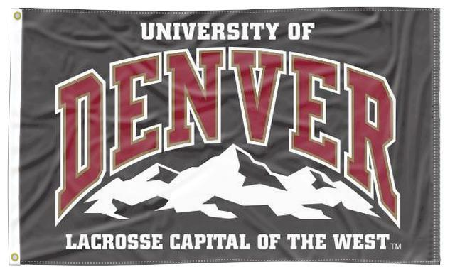 Denver - Lacrosse Capital Of The West 3x5 Flag