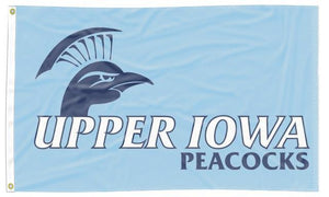 Upper Iowa - Peacocks Blue 3x5 Flag