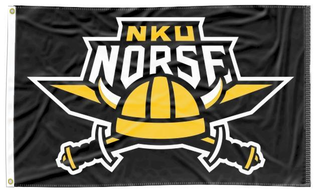 Northern Kentucky - Norses Black 3x5 Flag