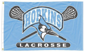 Johns Hopkins - Bluejays Lacrosse 3x5 flag