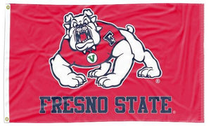 Fresno State - Bulldogs Red 3x5 Flag