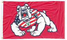 Load image into Gallery viewer, Fresno State - American Bulldog Red 3x5 Flag