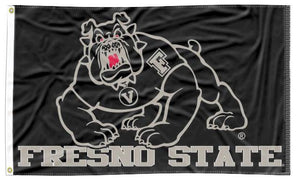 Fresno State - Bulldogs Black 3x5 Flag