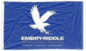 Embry-Riddle Aeronautical University Daytona -  Eagles Blue 3x5 Flag