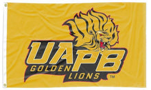 Load image into Gallery viewer, Arkansas at Pine Bluff - Golden Lions Gold 3x5 Flag