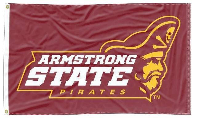Armstrong State - Pirates Maroon 3x5 Flag