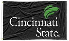 Load image into Gallery viewer, Cincinnati State -  Lighting Bolts Black 3x5 Flag