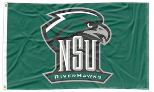 Northeastern State - NSU Riverhawks Green 3x5 Flag
