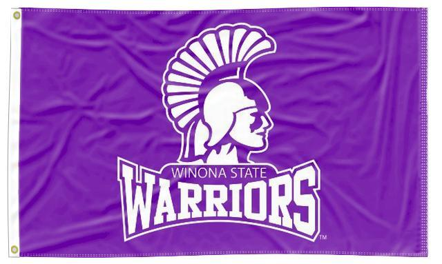 Winona State University - Warriors Purple 3x5 Flag