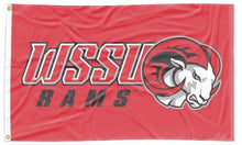 Load image into Gallery viewer, Winston-Salem State University - WSSU Rams Red 3x5 Flag