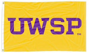 Wisconsin-Stevens Point - UWSP Pointers Gold 3x5 Flag