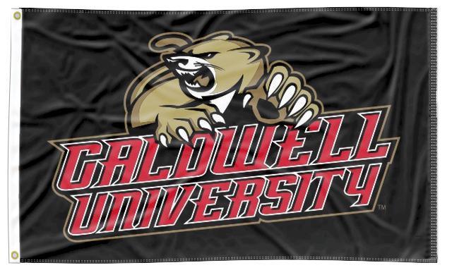 Caldwell University - Cougars Black 3x5 Flag