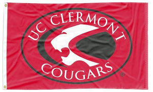 Cincinnati Clermont College - Cougars Red 3x5 Flag