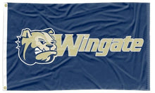 Load image into Gallery viewer, Wingate University - Bulldogs Blue 3x5 Flag